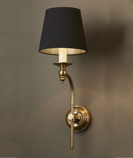 Soho Wall Lamp With Shade | Aged Brass   Magins Lighting Interior Wall Lamps  Emac U0026