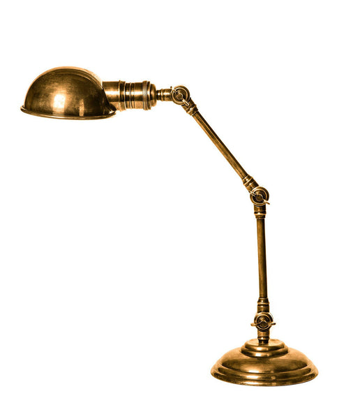 Stamford Desk Lamp - Aged Brass - Magins Lighting Desk & Floor Lamps Usually dispatches within 2-3 days. Please contact us to confirm prior to placing your order. Magins Lighting