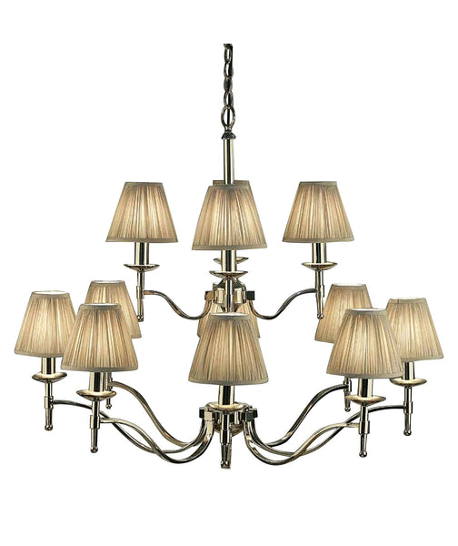 Stanford 12 Light Chandelier | Polished Nickel - Magins Lighting Chandelier Lead Time: 1 - 2 Weeks Magins Lighting