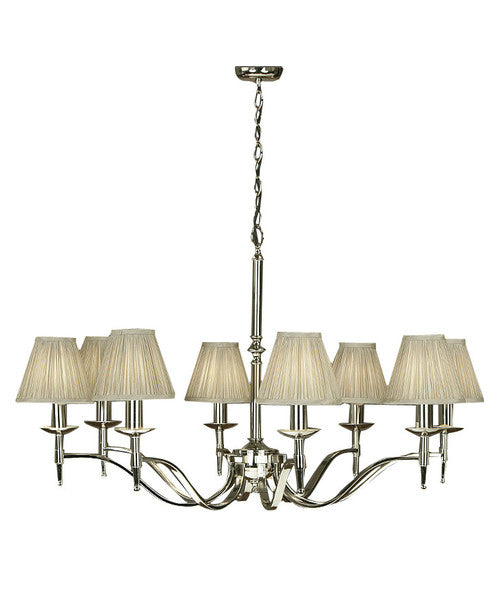 Stanford 8 Light Chandelier | Polished Nickel - Magins Lighting Chandelier Lead Time: 1 - 2 Weeks Magins Lighting