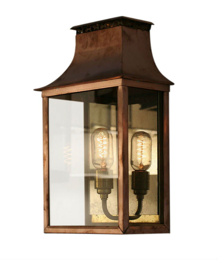 Sutton Wall Lantern | Natural Copper | Antique Mirror - Magins Lighting Wall Lantern Magins Design Magins Lighting