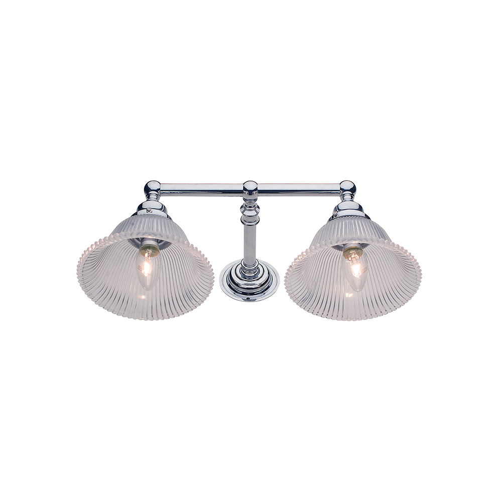 Hampton Wall Sconce | Double | Fluted Glass Shade - Magins Lighting Wall Lead Time: 8 - 10 Weeks Magins Lighting
