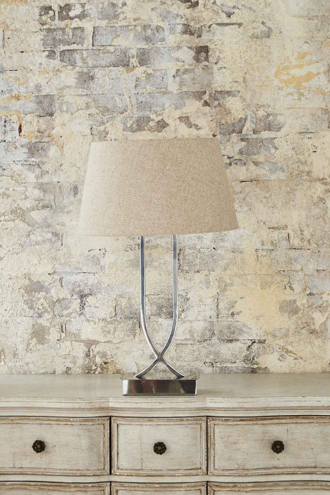 Southern Cross Table Lamp Shiny Nickel - Magins Lighting Table Lamps Usually dispatches within 2-3 days. Please contact us to confirm prior to placing your order. Magins Lighting