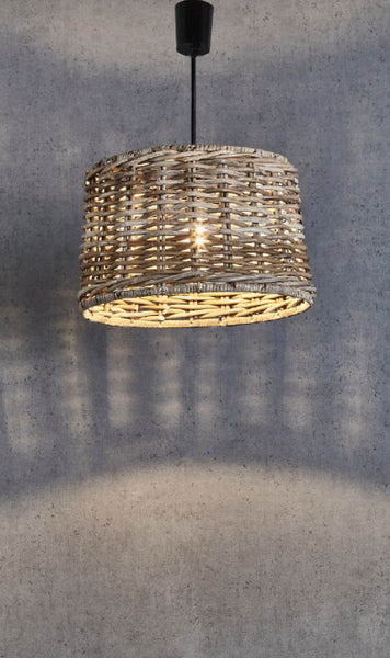 Wicker Round Pendant Light - Small - Magins Lighting Pendant Usually dispatches within 2-3 days. Please contact us to confirm prior to placing your order. Magins Lighting