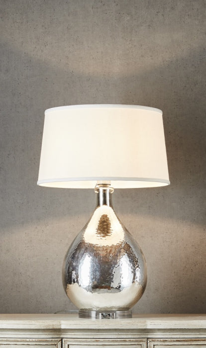 Halifax table lamp with off white shade - Magins Lighting Table Lamps Usually dispatches within 2-3 days. Please contact us to confirm prior to placing your order. Magins Lighting