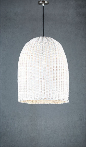 Bowerbird Wicker Pendant - White - Small - Magins Lighting Pendant Usually dispatches within 2-3 days. Please contact us to confirm prior to placing your order. Magins Lighting