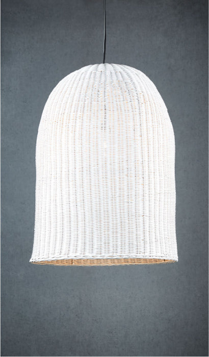 Bowerbird Wicker Pendant - White - Magins Lighting Pendant Usually dispatches within 2-3 days. Please contact us to confirm prior to placing your order. Magins Lighting