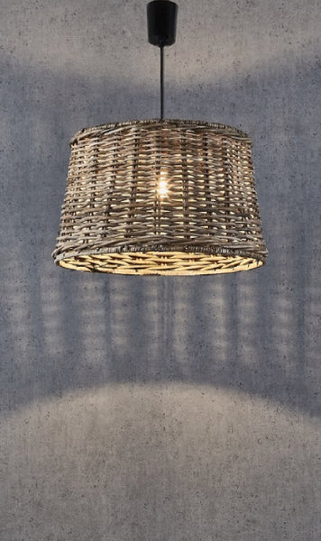 Wicker Round Pendant Light - Large