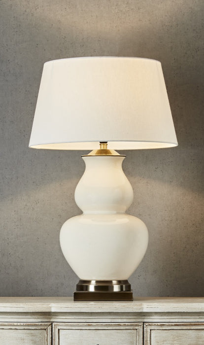 MATISSE CREAM TABLE LAMP BASE - Magins Lighting Table Lamps Usually dispatches within 2-3 days. Please contact us to confirm prior to placing your order. Magins Lighting