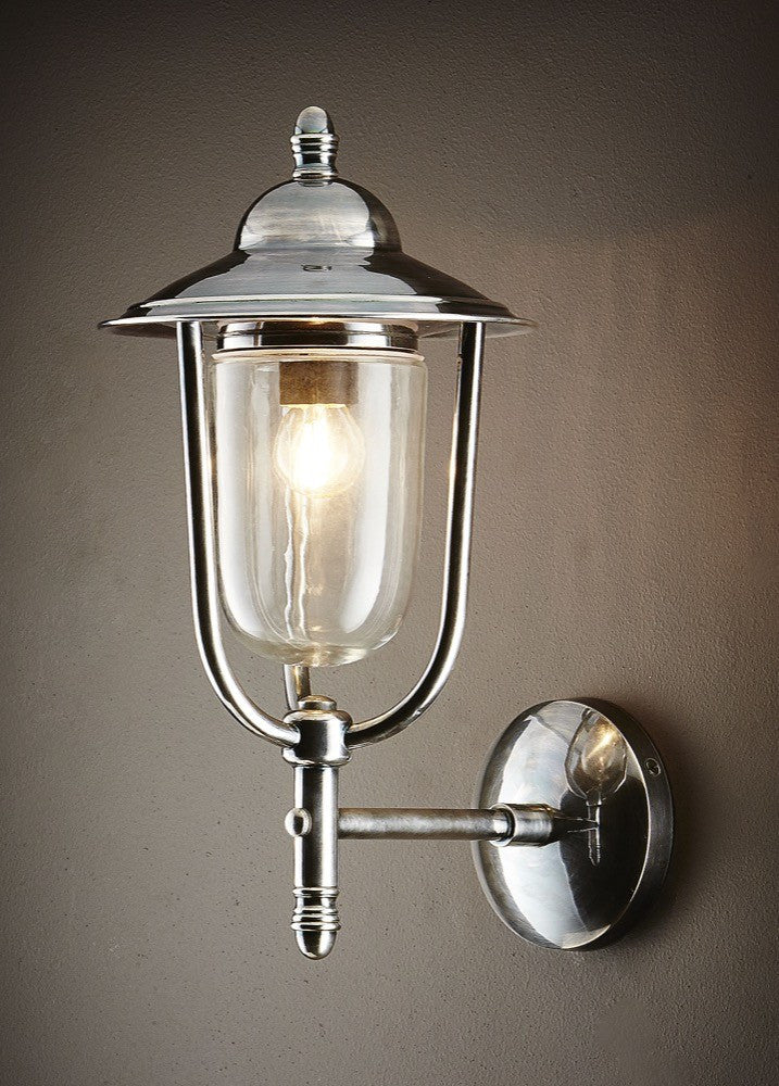 Pier Wall Lamp | Antique Nickel - Magins Lighting Exterior Wall Lamps Usually dispatches within 2-3 days. Please contact us to confirm prior to placing your order. Magins Lighting