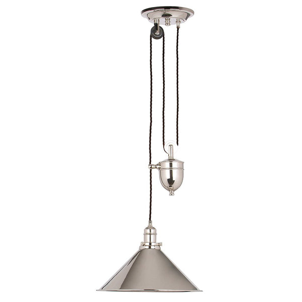 Provence Rise and Fall Pendant | Polished Nickel - Magins Lighting Ceiling Light Lead Time: 5 - 6 Weeks Magins Lighting