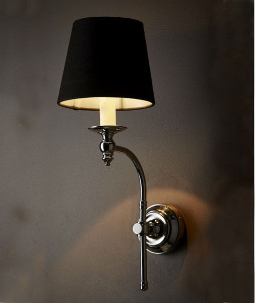 Soho Wall Lamp with Shade | Polished Nickel - Magins Lighting Interior Wall Lamps Usually dispatches within 2-3 days. Please contact us to confirm prior to placing your order. Magins Lighting