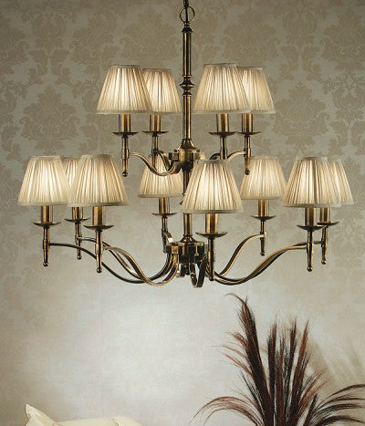 Stanford 12 Light Chandelier | Oxodised Brass