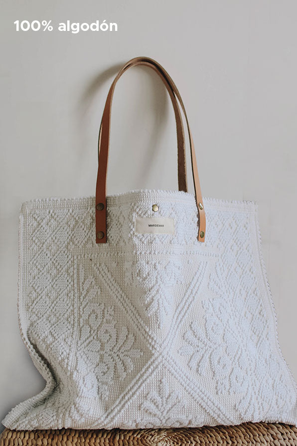 Bolso blanco shopper algodón