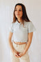Polo cropped azul