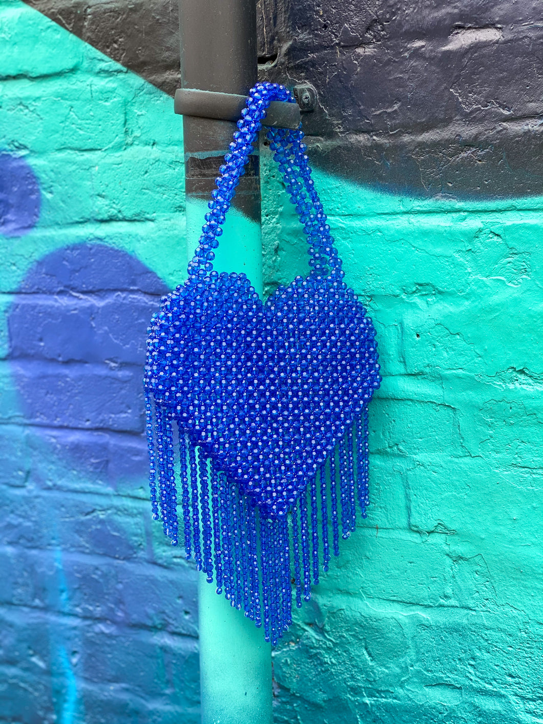 QUEEN OF HEARTS ROYAL BLUE BAG
