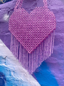 QUEEN OF HEARTS LILAC BAG