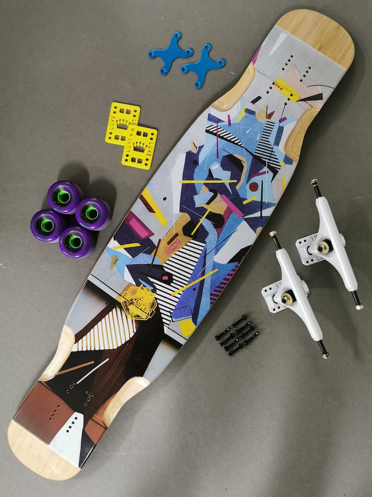 Remember Collective Groove Complete Longboard, ThaneLife Longboard Gear Outlet