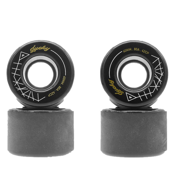 TRAVELOL LUCKY LONGBOARD WHEELS 60MM - BLACK