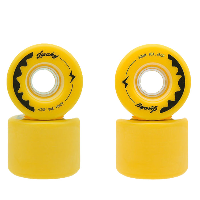 TRAVELOL LUCKY LONGBOARD WHEELS 60MM - THUNDER YELLOW