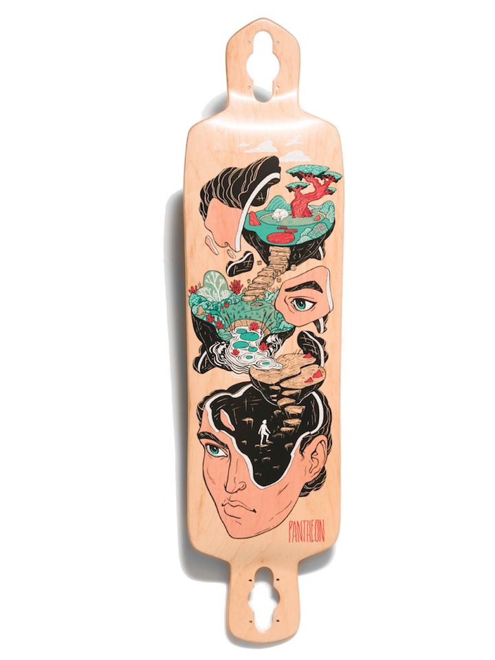 Pantheon Quest Longboard Deck, ThaneLife Skateboard Shop