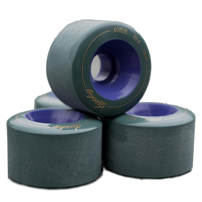 TRAVELOL LUCKY LONGBOARD WHEELS 60MM - GREEN BLUE