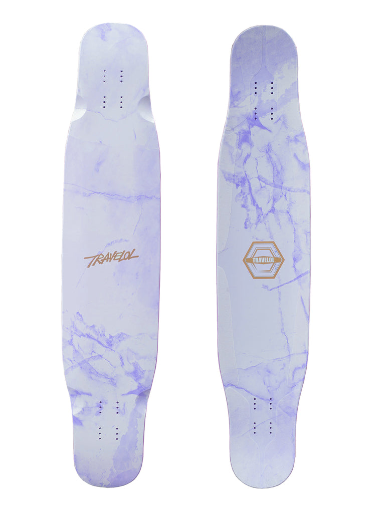 "TRAVELOL MARBLE 46"" LONGBOARD DECK - PURPLE BLUE"