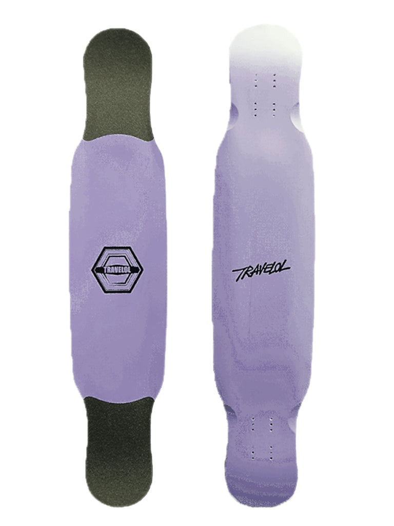 "TRAVELOL 43.5"" LONGBOARD DECK - PASTEL PURPLE"