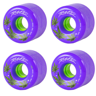 TRAVELOL LONGBOARD WHEELS 60MM - PURPLE
