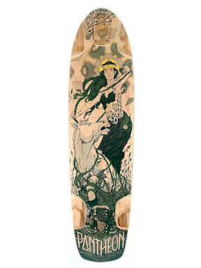 Pantheon Gaia Longboard Deck, ThaneLife Skateboard Shop