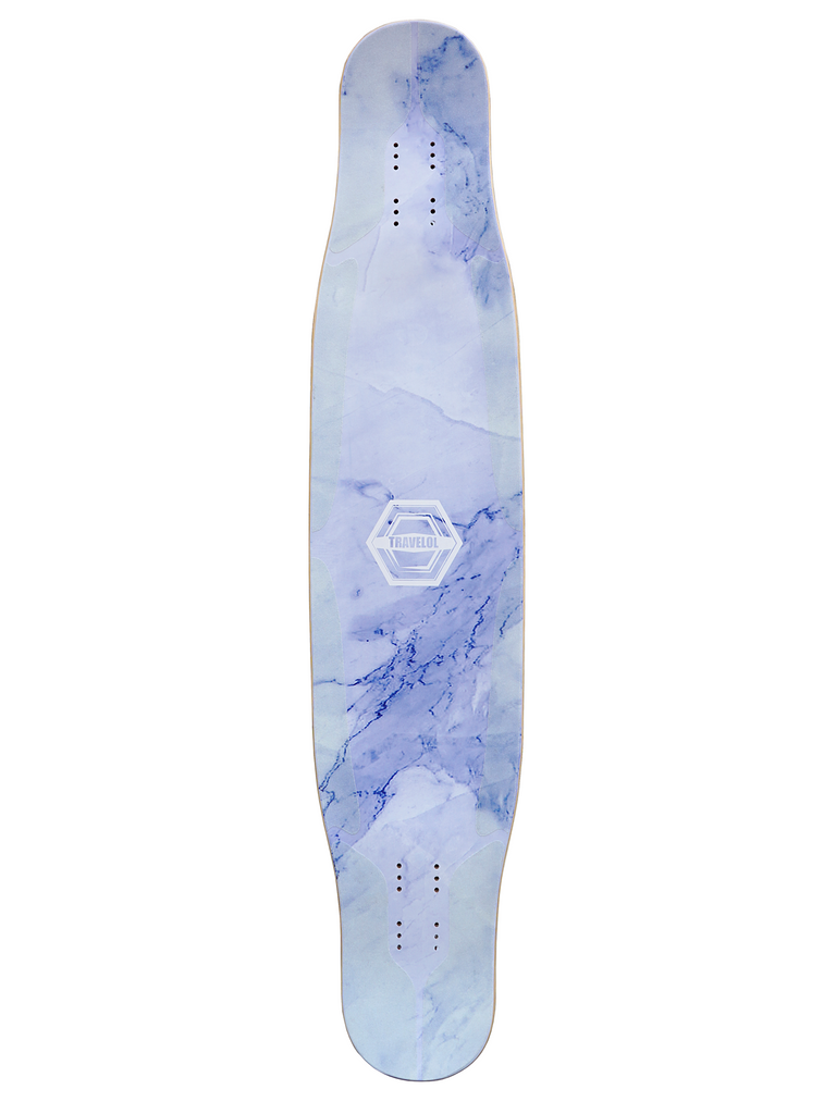 TRAVELOL MARBLE 43 LONGBOARD DECK - PURPLE BLUE