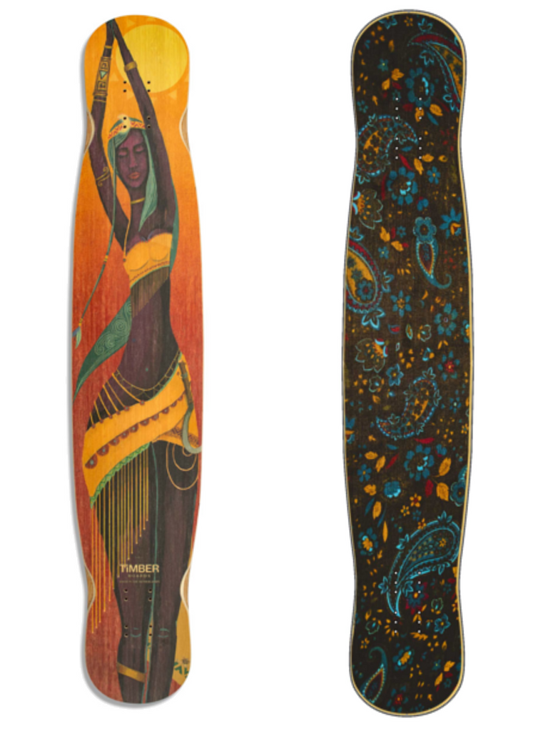 Timber Flamingo Ondjongo with Fancy Dance Freestyle Grip, ThaneLife Longboard Gear Outlet