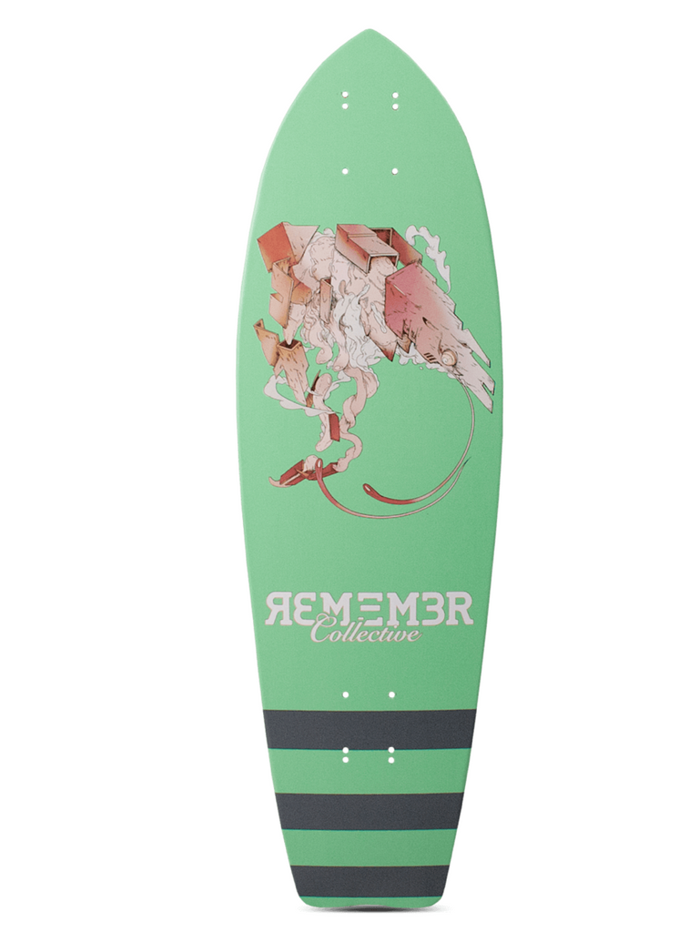 Remember Collective Krill Cruiser Longboard Deck The Thane Life Longboard Shop