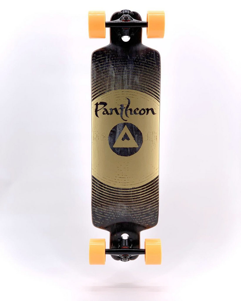 PANTHEON TRIP COMPLETE LONGBOARD CRUISER - BLACK GONG GRAPHICS