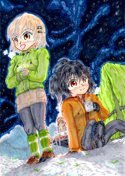 "Color illustration of manga ""Encourage to Climb"" カラーイラスト「ヤマノススメ」"