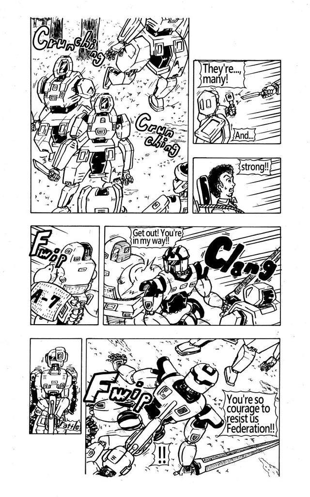 "The 9th page of my original manga ""FEGEAR"" 4th episode"