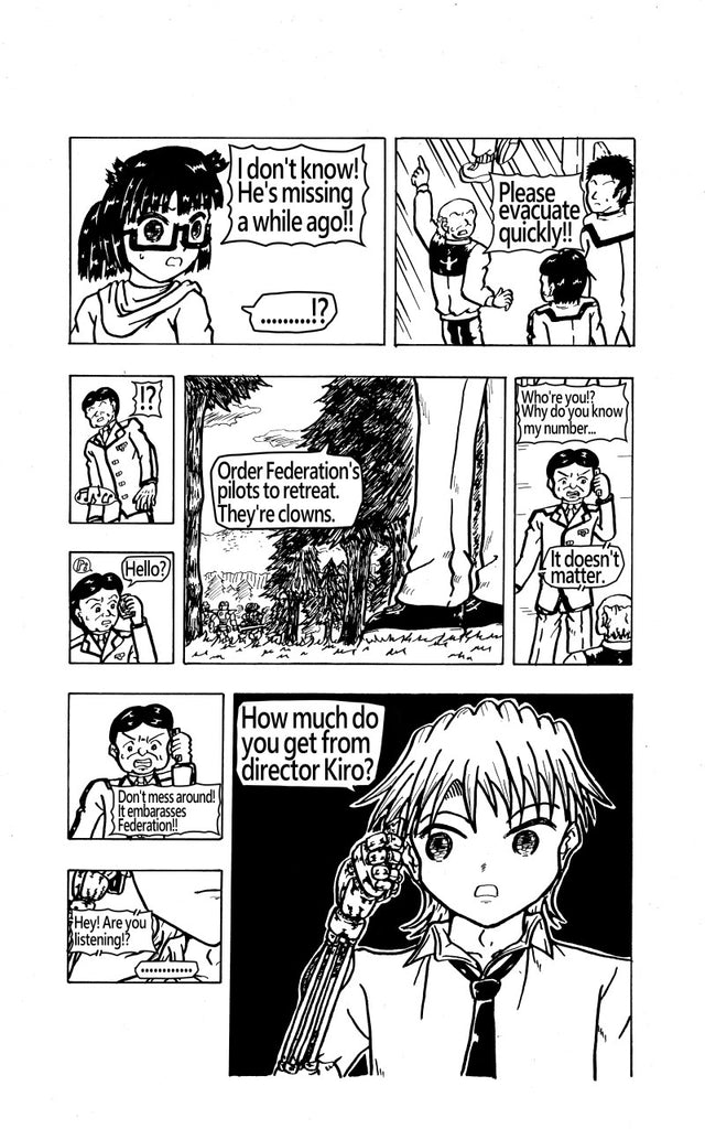 "The 11th page of my original manga ""FEGEAR"" 4th episode"