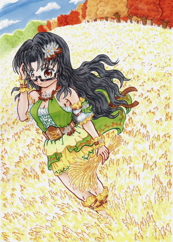 "My color illustration of a character ""Sayoko Takayama"""