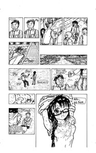 "Sample image 4 of my original manga ""She draws""(English)"