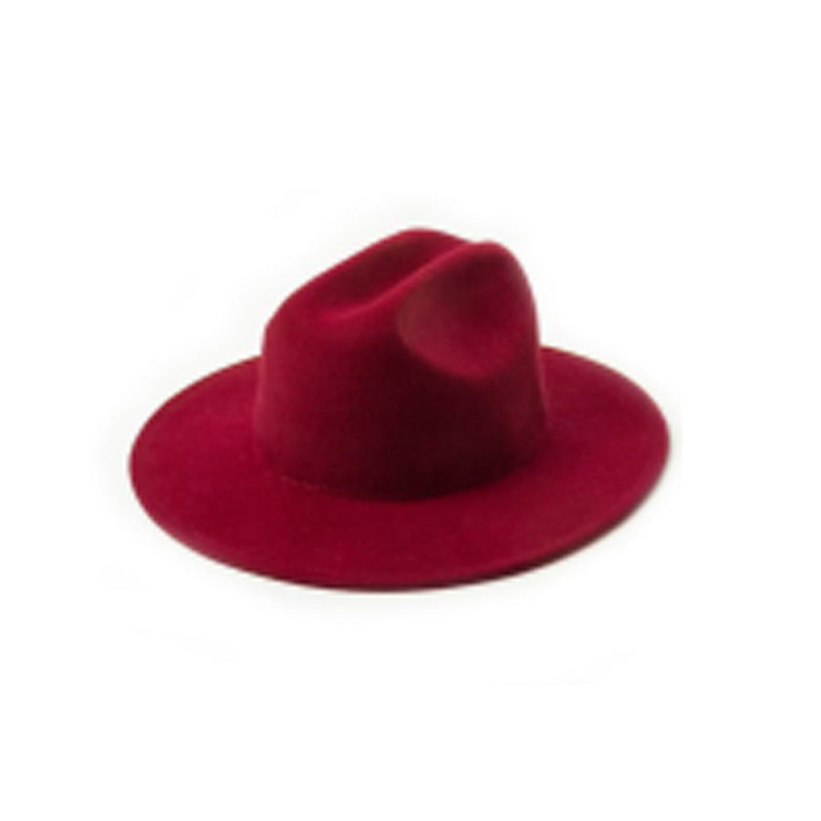 Fedora Hat - Burgundy