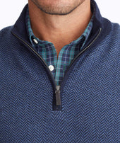 Merino Wool Herringbone Quarter-Zip Zoom