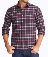 Wrinkle-Free Performance Flannel Benoit Shirt 1