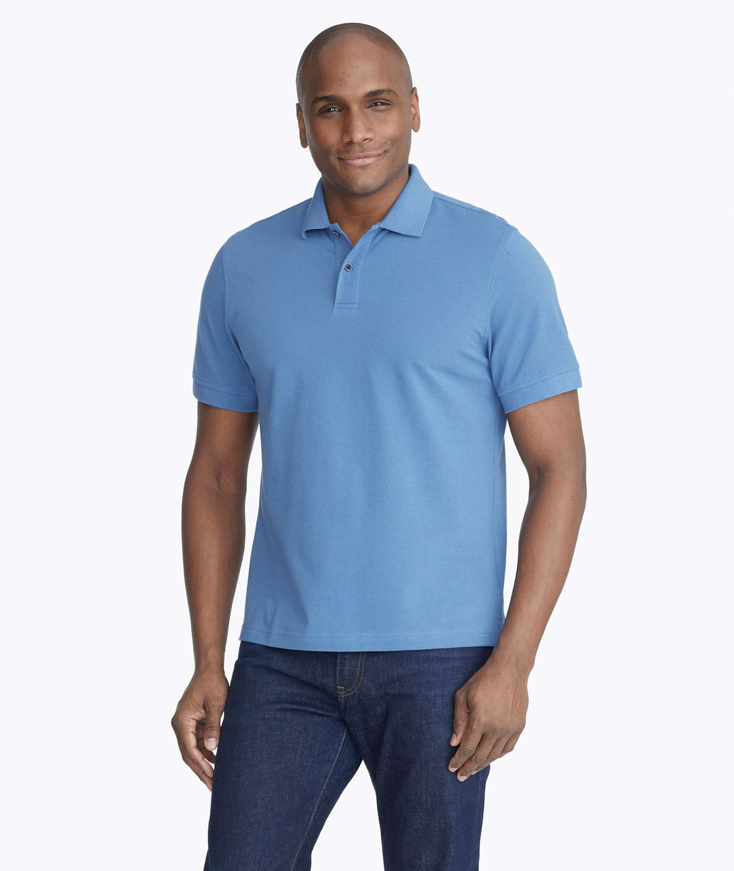 Model wearing a Dark Blue Classic Pique Polo