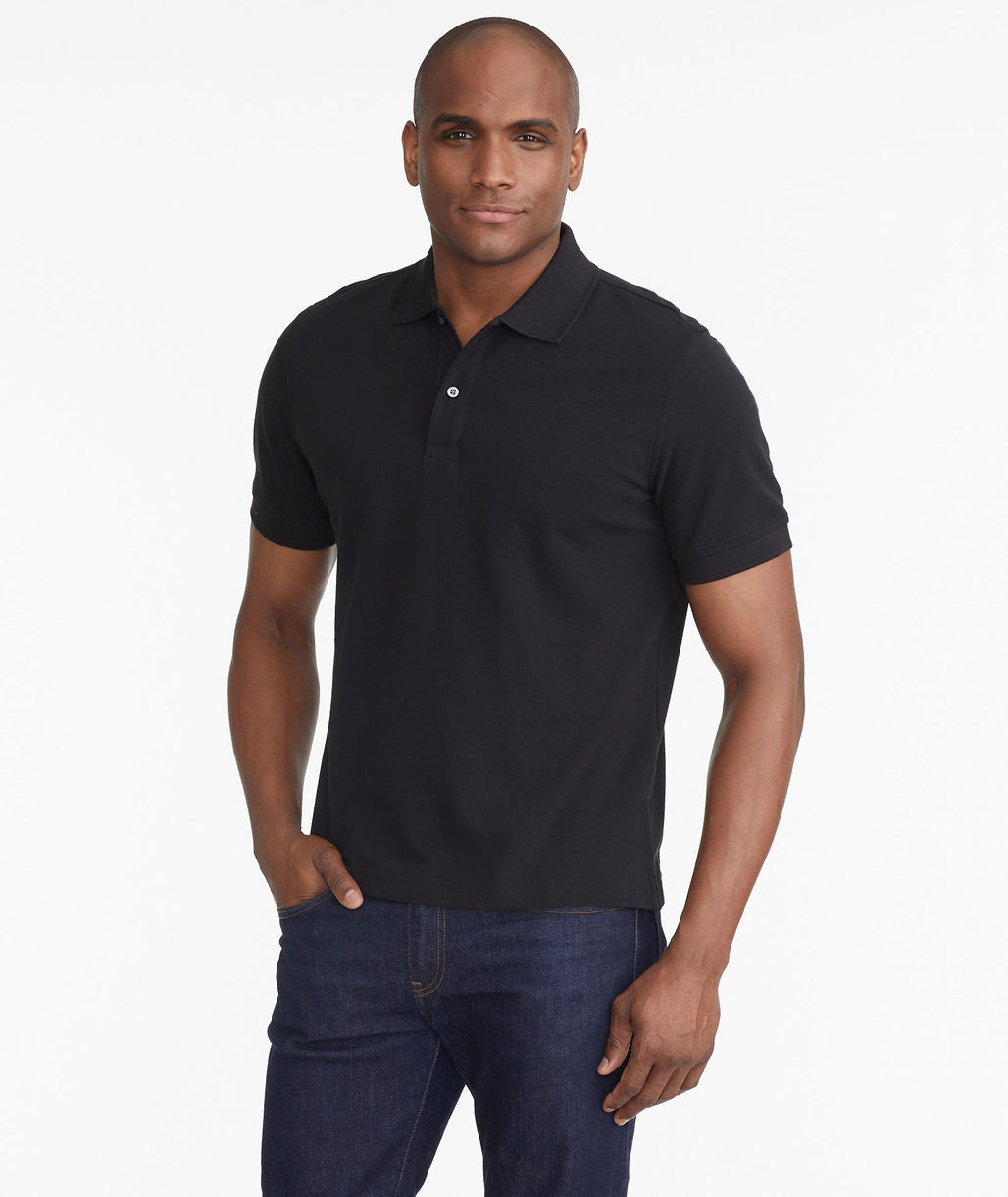 Model wearing a Black The Classic Pique Polo