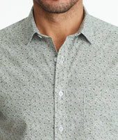 Classic Short-Sleeve Shirt with Floral Print Zoom