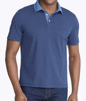 Wrinkle-Free Printed Polo with Contrast Collar 1