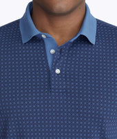 Wrinkle-Free Printed Polo with Contrast Collar Zoom
