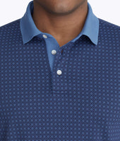 Wrinkle-Free Printed Polo with Contrast Collar 5