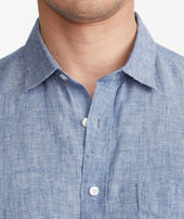 Wrinkle-Resistant Short-Sleeve Linen Shirt Zoom