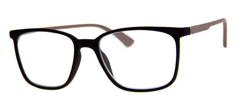 Black - Stylish Rectangular Men's & Womens Reading Glasses